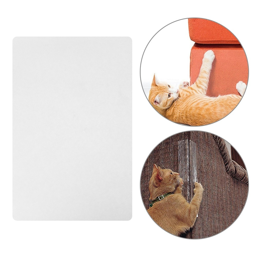 2Pcs/Set Self-adhesive Cat Supplies Anti-scratching Stickers Sofa Furniture Protector Cover Scratch Guard Mat Couch Guard