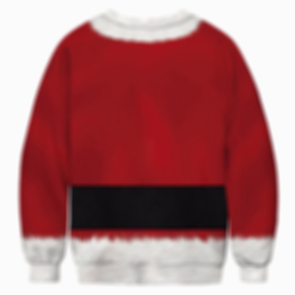 Couples Santa Round Collar Ugly Sweater