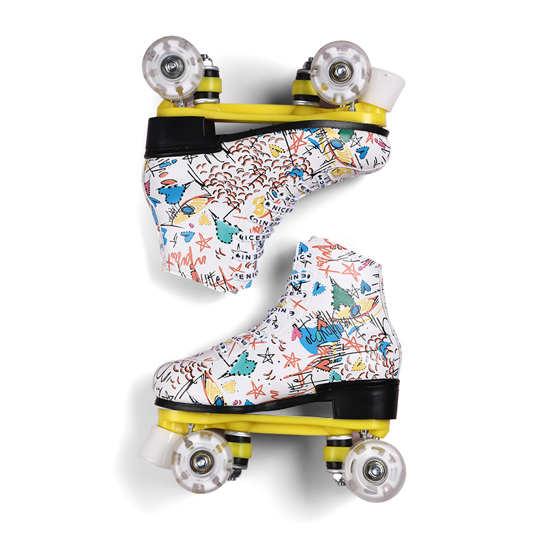 Flash Roller Skates Double-row With Quad Rink Skates