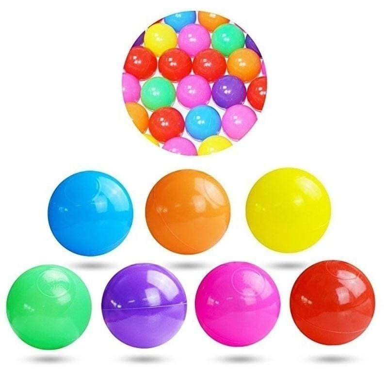 50/100pcs Colorful Fun Ball Soft Plastic Ocean Ball Baby Kid Toy Swim Pit Toy Ocean Wave Ball 2.16inch