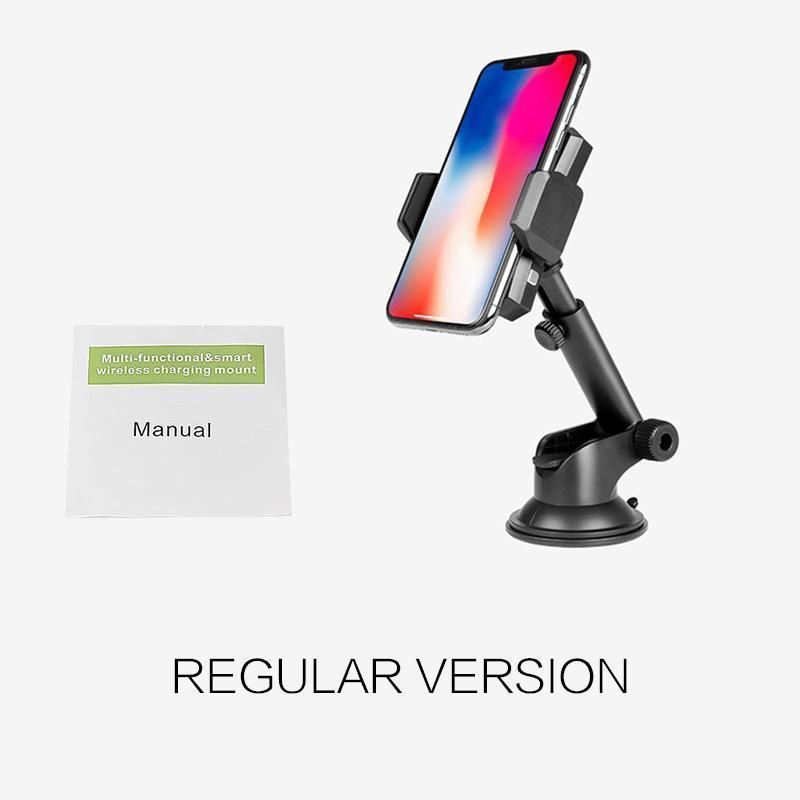 Infrared Wireless Fast Charger Car Air Vent Mount for All Qi-Enabled Phones