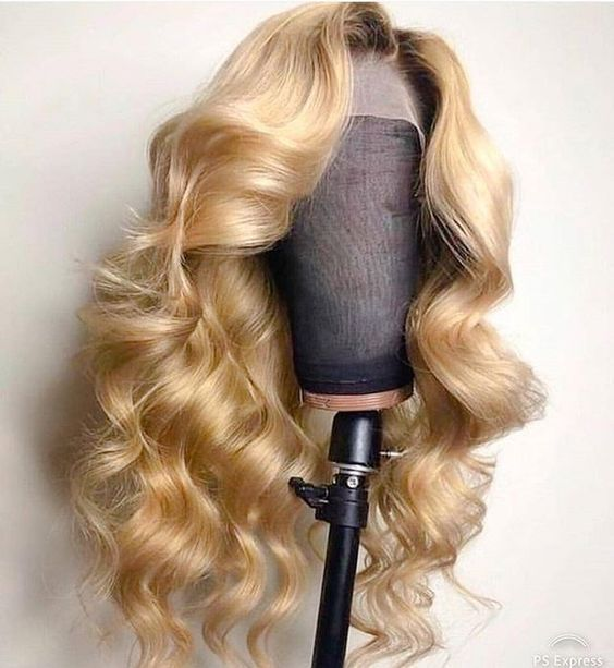 Lace Front Wigs For Black Women White Blonde Tape In Hair Extensions Blonde Curly Human Hair Lace Front Wigs Honey Blonde Wig