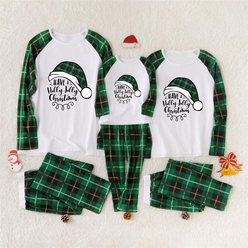 """HERIN """"Have a Holly Jolly Christmas"""" Family Matching Pajamas Sets"""
