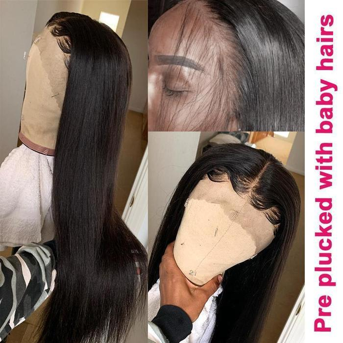 Black Lace Wig  Straight Hair