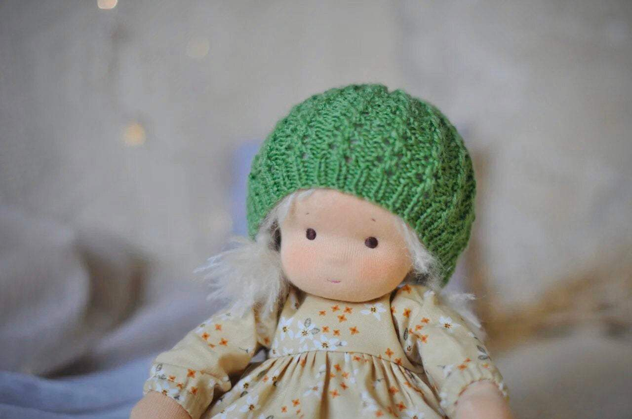Textile Waldorf doll baby Dandelion MADE TO ORDER Вirthday gift / doll with clothes(PRE ORDER.NEXT SHIPPING DAY 30 DAYS)