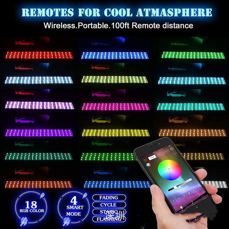 55% OFF!Last day promotion-Remote Control Waterproof RGB Motorcycle Lights