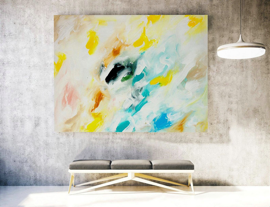 Abstract Canvas Art - Large Painting on Canvas, Contemporary Wall Art, Original Oversize Painting LAS044