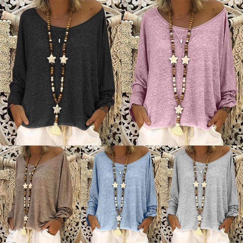 Women Casual Loose Batwing Sleeve Shirts & Tops