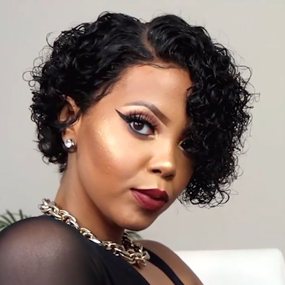 2019 New AFFORDABLE CURLY BOB LACE FRONT BASIC CAP WIG