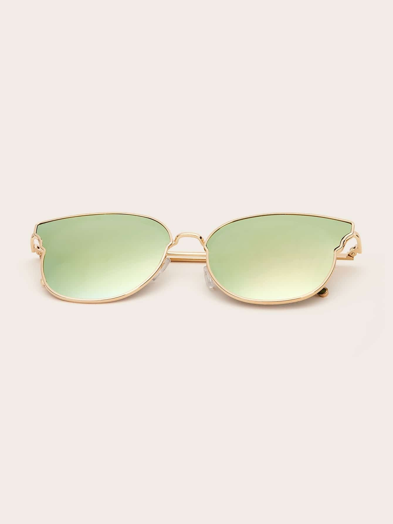 Ombre Lens Sunglasses With Case
