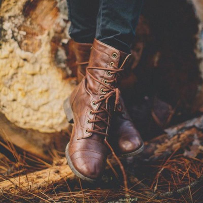 Vintage Lace Up Fashion Martin Boots