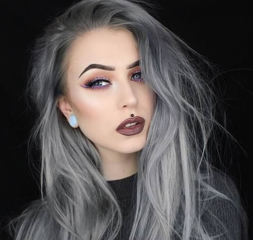 Gray Hair Wigs For African American Women Boiling Synthetic Wig Hair Pieces And Wigs Grey Hair At Front Of Head Charcoal Gray Hair Color Navy Blue Wig