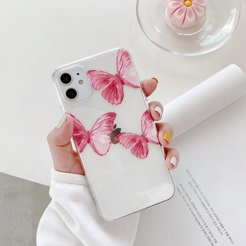 Pink Butterfly Case