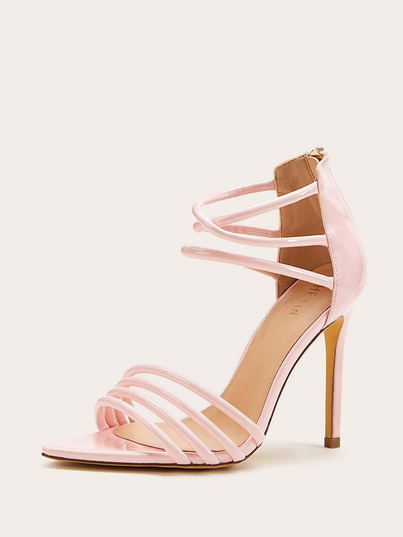 Open Toe Strappy Stiletto Heels