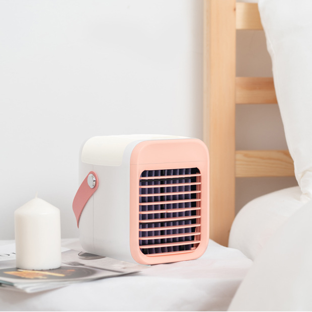 Portable USB Air Cooler Fan, Anti-Leak Swamp Air Conditioner With 3 Speed Modes