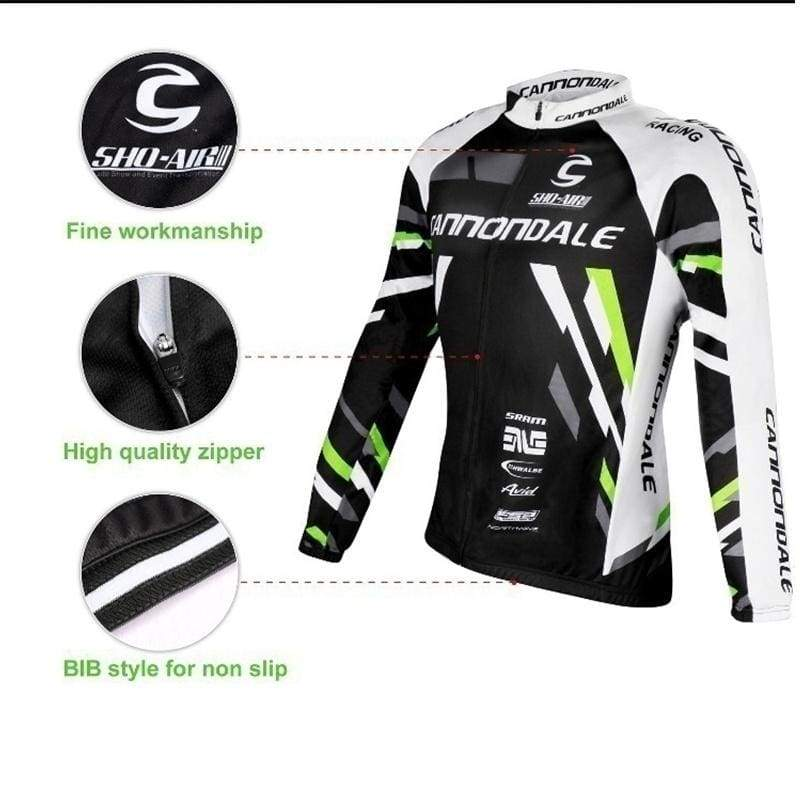ZD CannonDALE Cycling Jersey Long Sleeve Cycling Clothing Breathable Mountain Bike Clothes Quick Dry Bicycle Sportswear Bicycle Suits