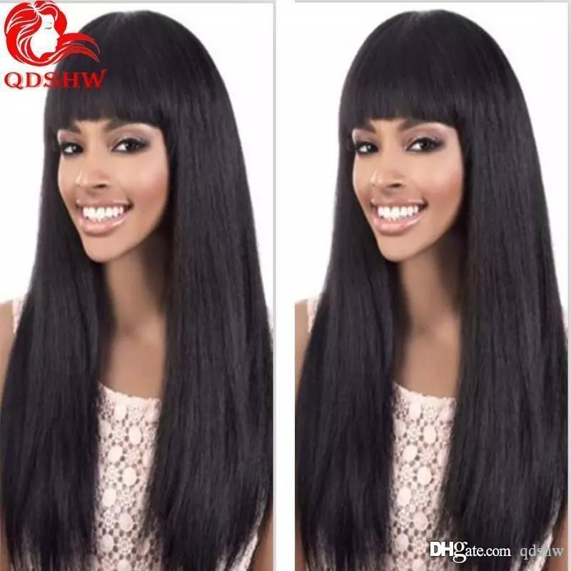 Lace Front Black Wig white Lace hair wigs hh finger roll Lace hair wig