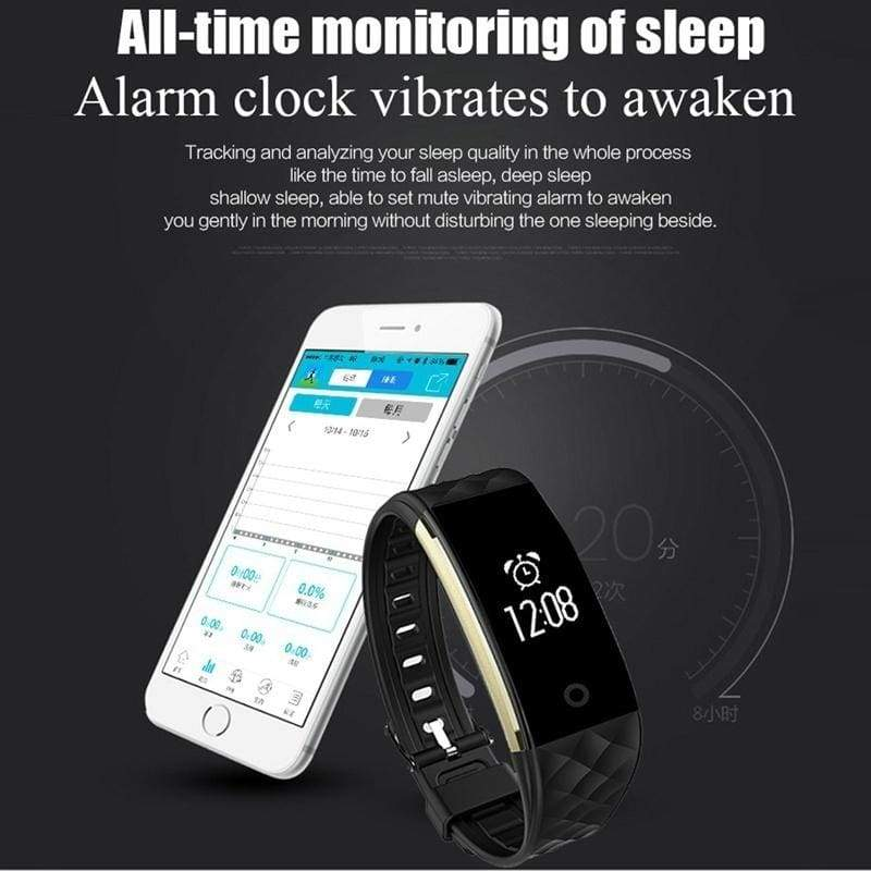 S2 Bluetooth Smart Band Wristband Heart Rate Monitor IP67 Waterproof Smartband Bracelet For Android IOS Phone PK fit mi band