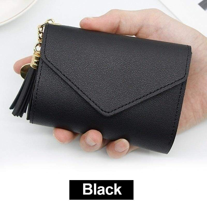 New Mini Tassel Wallet Women Fashion Short Purse Card Holder Korean Students Lovely Purse for Girls Ladies Wallets for Women Bags and Purses