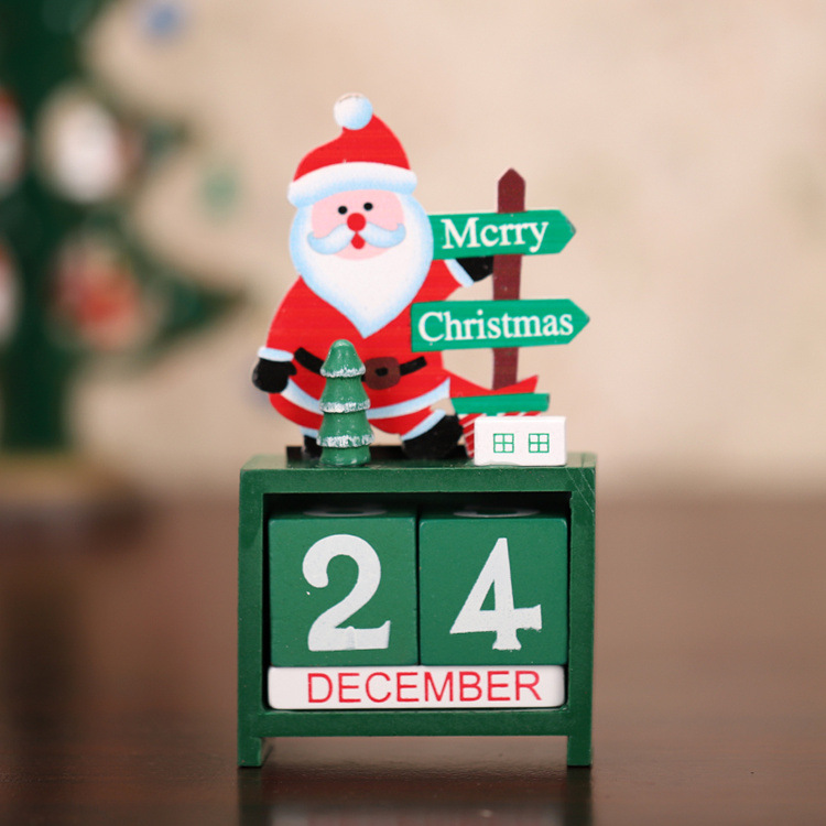 Wooden Christmas Decorations Countdown Calendar