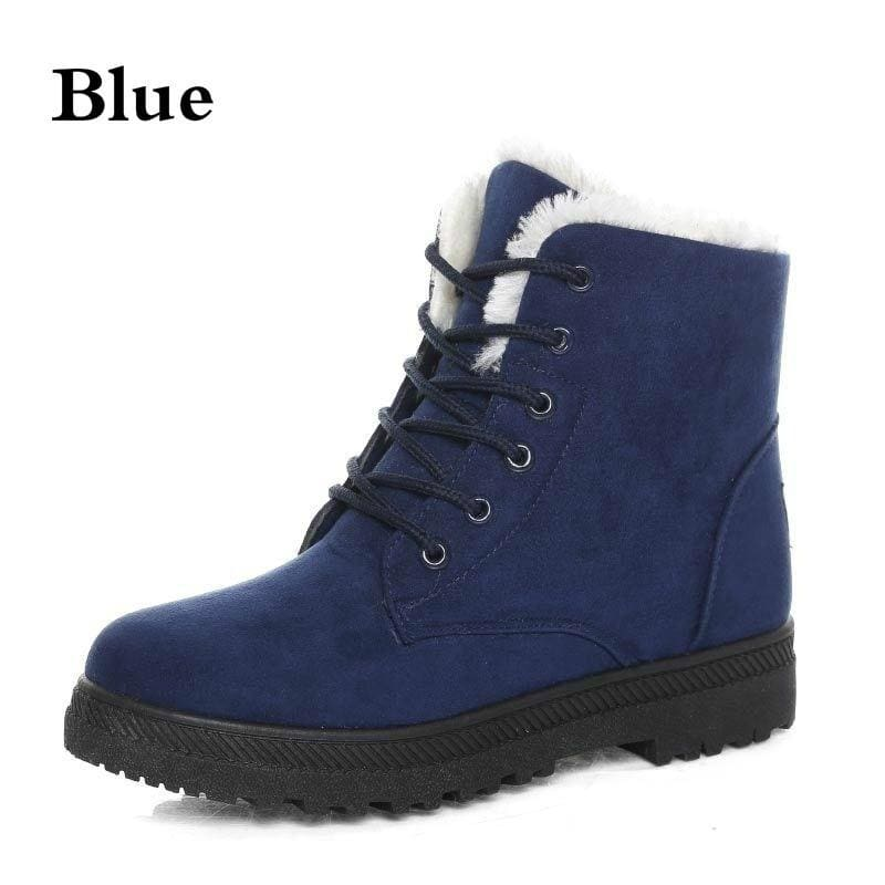 Hot! Ladies Winter Snow Boots Warm Fur Lined Ankle Boots Women Casual Flat Short Booties Shoes Botas Feminina