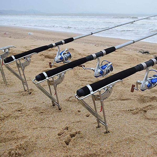 (Summer Hot Sale-50% OFF) Automatic Fishing Rod Holder(Double spring!!)