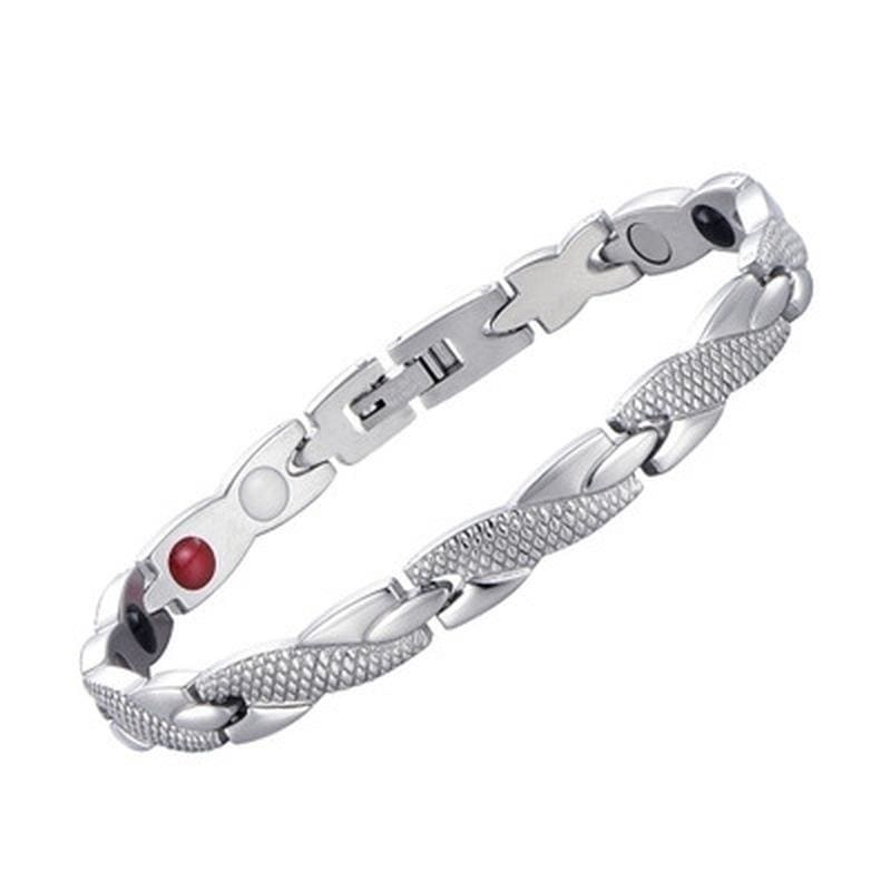 4 Colors Weight Loss Jewelry Slimming Bangle Bracelets Twisted Magnetic Therapy Bracelet Health Care  (1 PC)