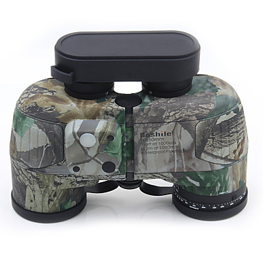 10 X 50 mm Binoculars Range Finder Porro Waterproof High Definition Shock Resistant Fully Multi-coated BAK4 Compass Night Vision Rubber Metal / IPX-7 / Hunting / Bird watching