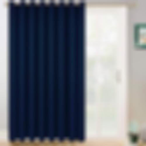 Yakamok Wide Blackout Patio Door Curtain Panel, Sliding Door Insulated Curtains,