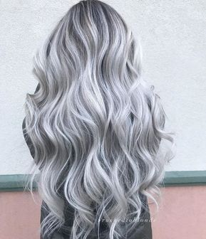 2020 New Gray Hair Wigs For African American Women Bubble Meadow Salt And Pepper Grey Wigs Body Wave Wig Pastel Grey Hair Lowlights For Gray Hair