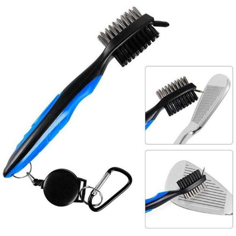 Golf Club Groove Cleaning Brush 2 Sided Golf Putter Wedge Ball Groove Cleaner Kit Cleaning Tool Golf Training Aids Accessories