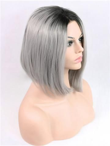 Noriko Colors Silver Gray Wigs Midnight Purple Hair Copper Brown Hair