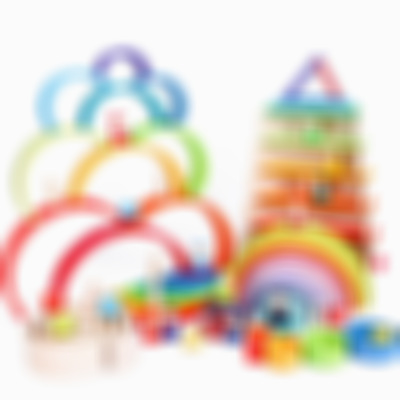 (Free Shipping) Wooden Rainbow Building Blocks (12 pieces)