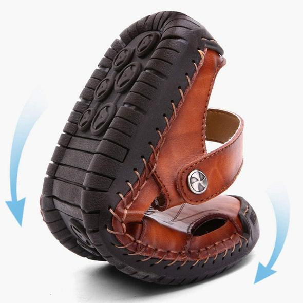 New Hand Stitching Soft Outdoor Leather Sandals