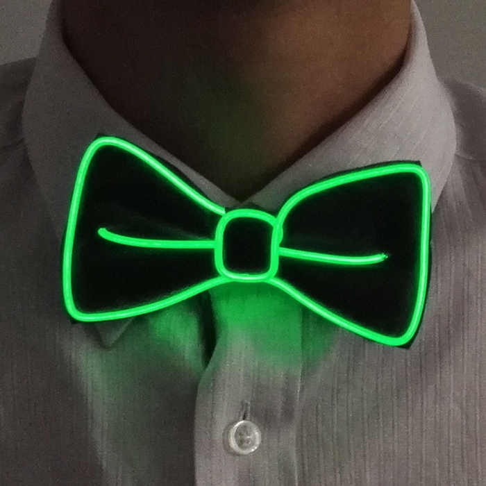 💥【40% OFF】Light Up LED Suspenders Bow Tie