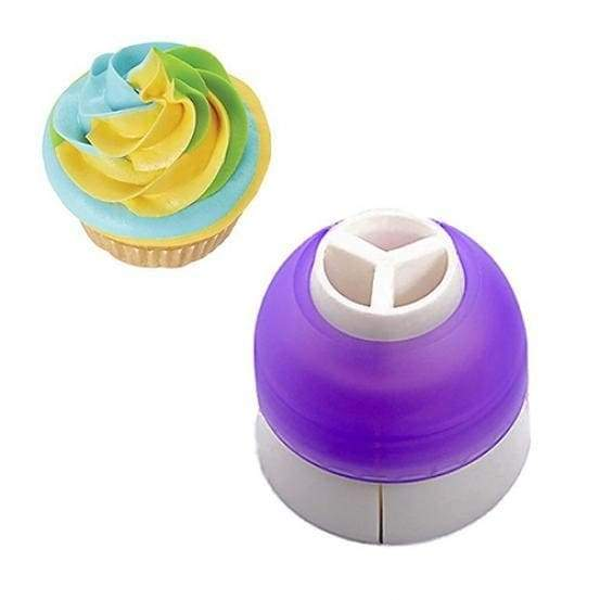 Cream converter icing piping bag nozzle converter coupler cake tri-color cake decoration 3 colors