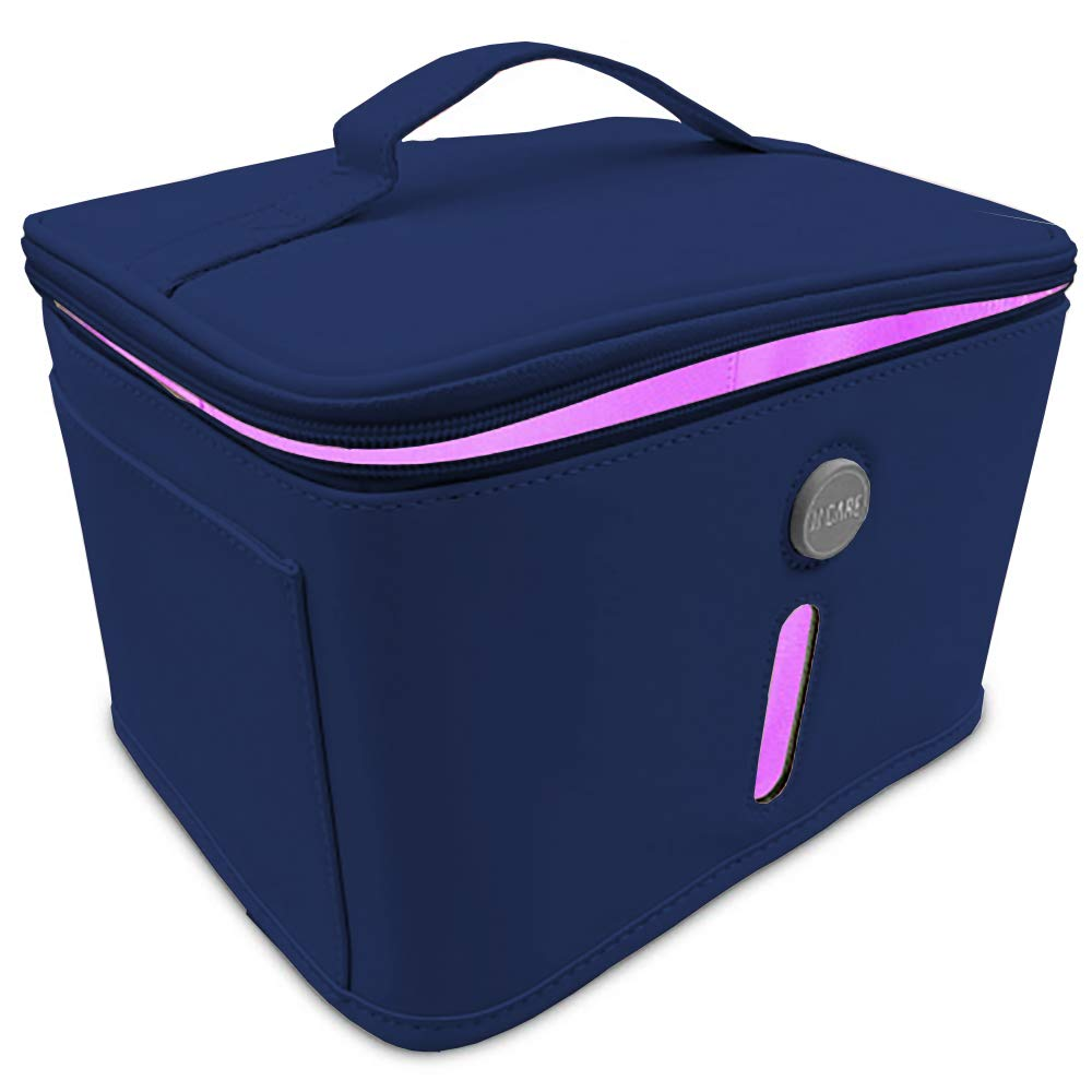 UV Sterilizer Bag - Portable UV Light Sanitizer Bag - UV Disinfection Bag with 9 LED Lights, 99.9% Effective UVC Bag for Baby Items