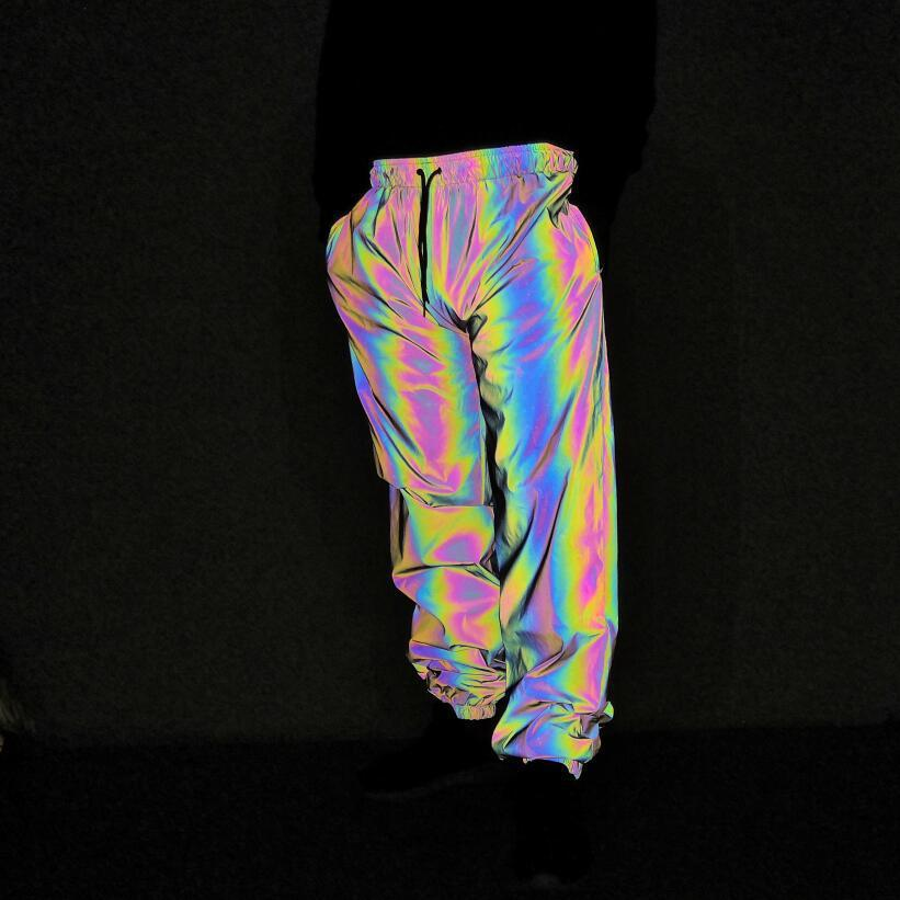 Nopnogn-Colorful reflective trousers