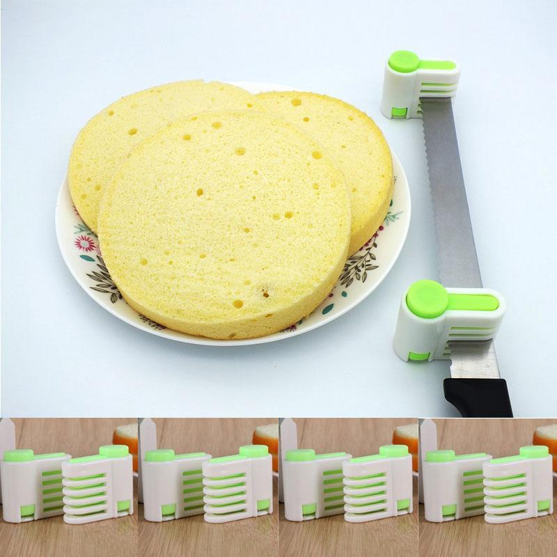 SKRTEN 2 pcs 5 Layers Cake Slicer Fixator Bread Slice Toast Cut Leveler