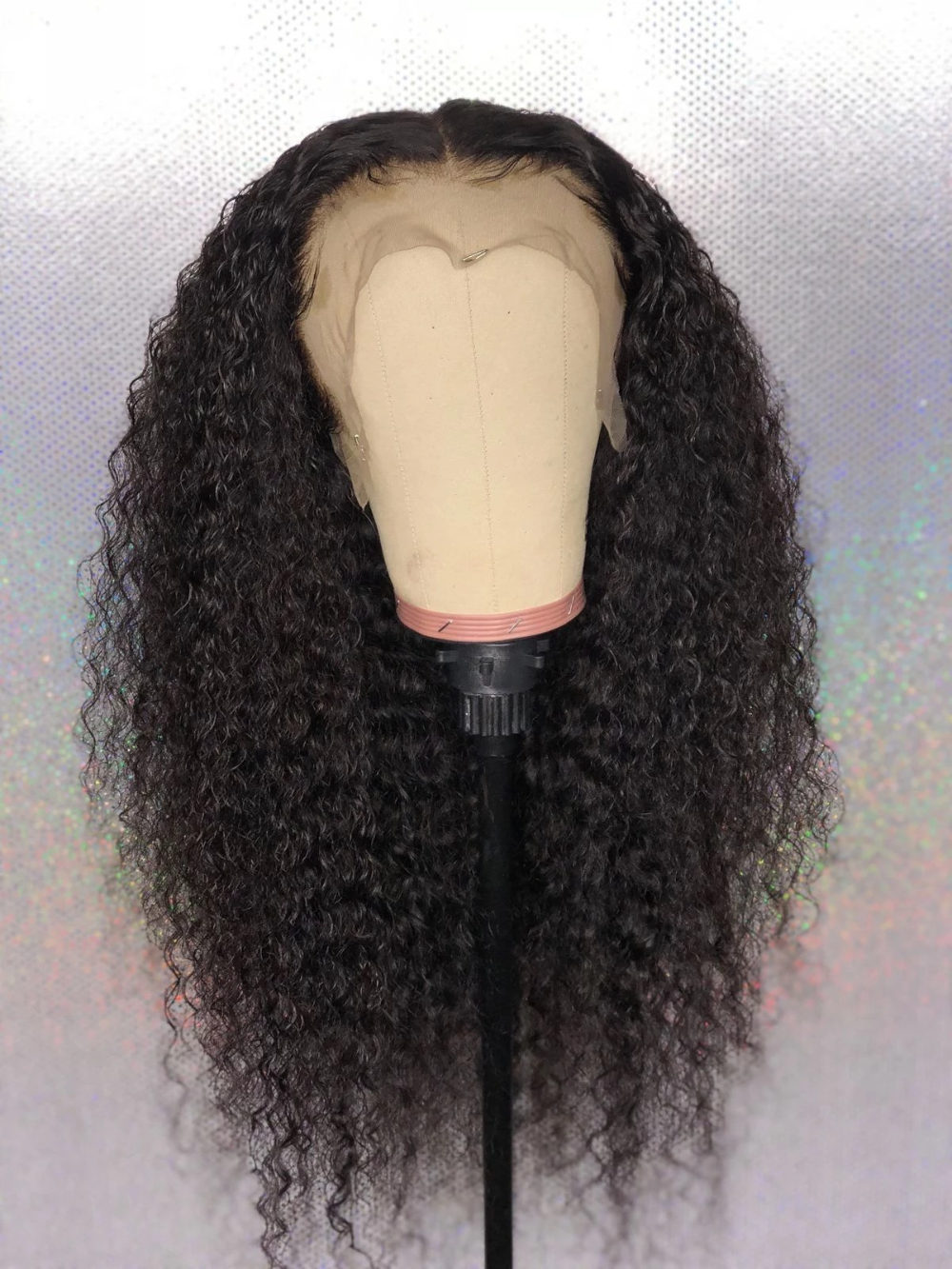 Lace Frontal Wigs Black Hair 40 Inch Black Wig