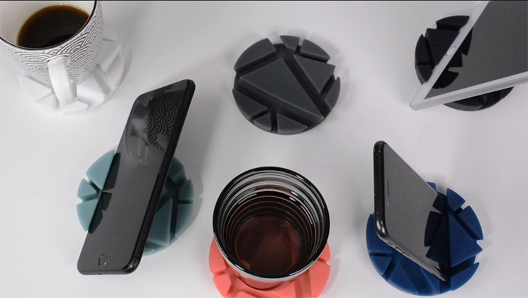 2pcs Multifunction Round Silicone Coffee Cup Coasters