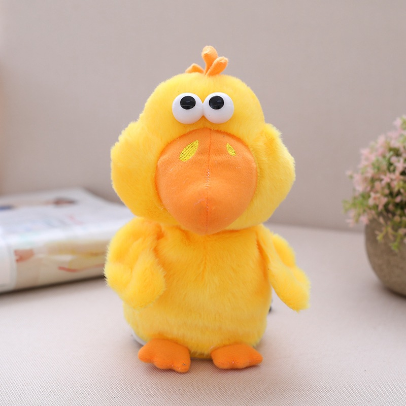 【Buy 2 free shipping】Electric little yellow chicken children's gift toy that can sing, nod, talk and record