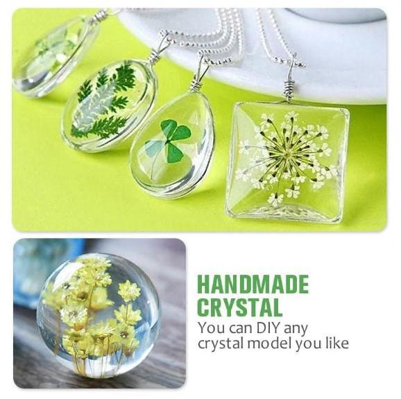 DIY Crystal Glue Jewelry Mold Kit