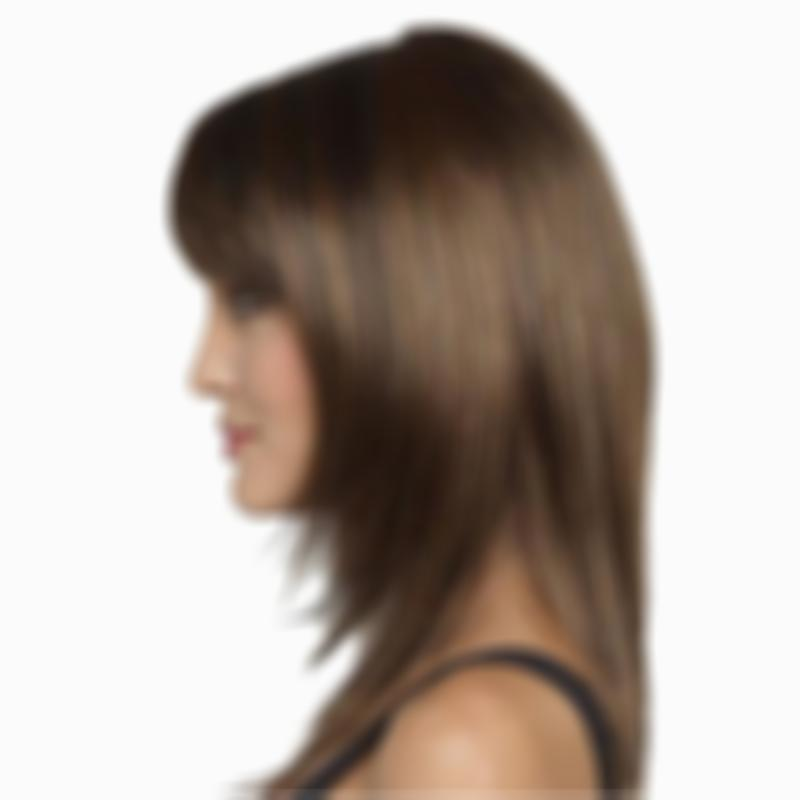 KAMI 158 Long Straight with Bangs Layered Wigs Natural Looking Hair Cheap Wig for Women