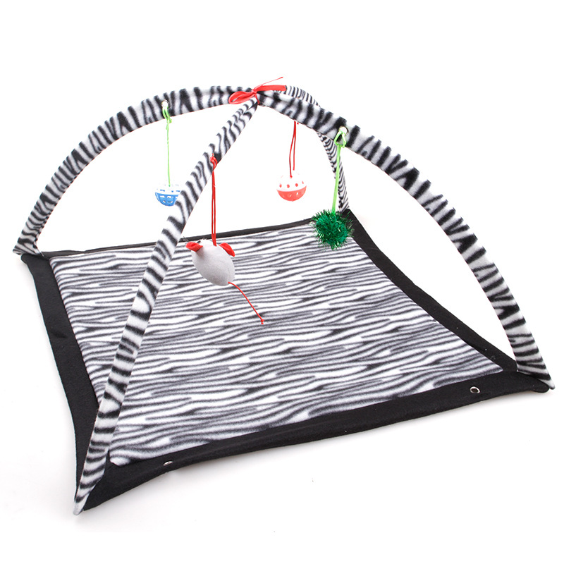 Cat Toys Portable Cat Tent Funny Pet Toys Mobile Activity Pets Play Bed Toys Cat Play Mat Blanket House Foldable Kitten Tents