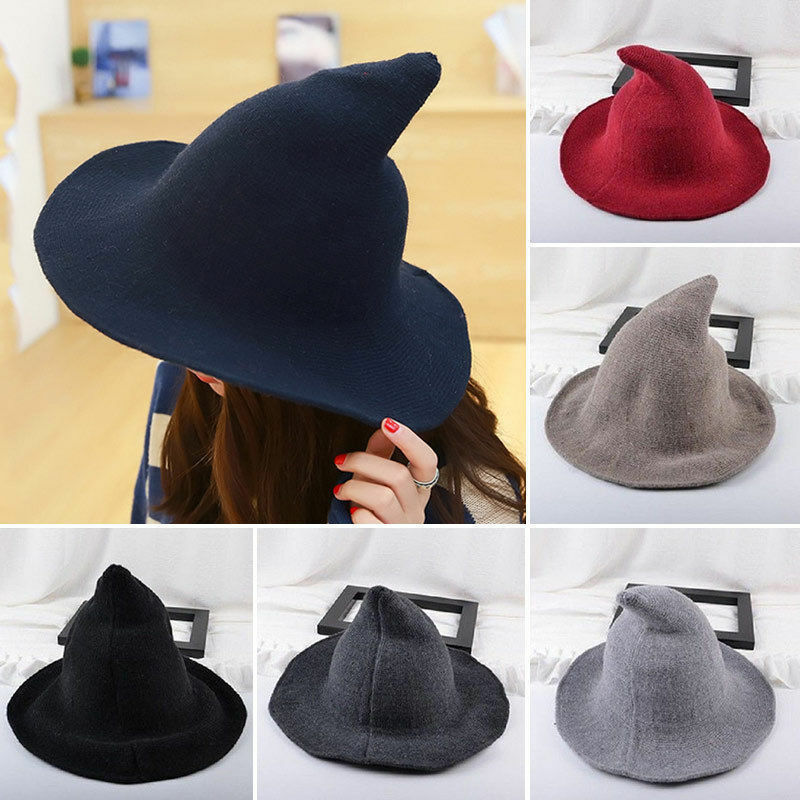 Wool Witch Hat for Halloween Party Cosplay Costume