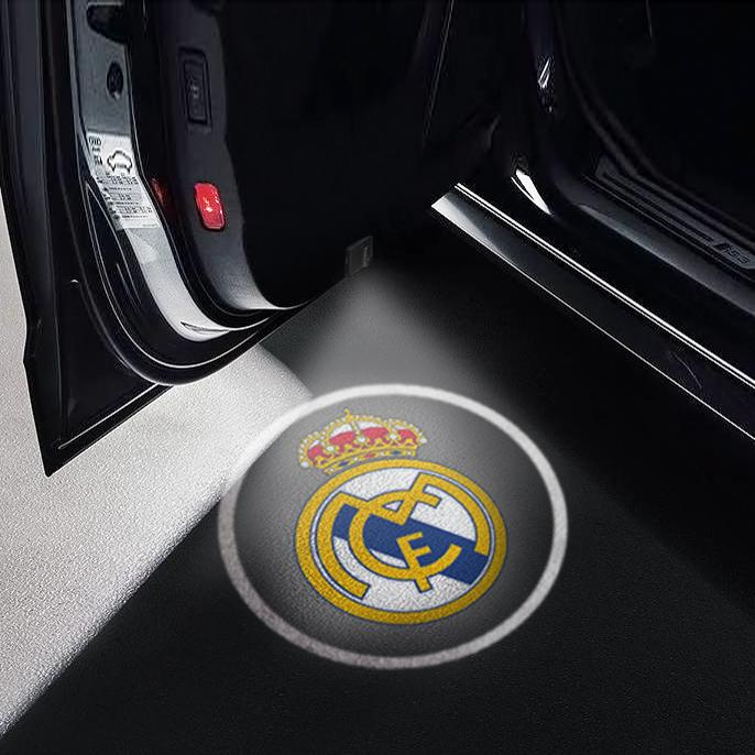 CarFitg Wireless Led Car Door Projector Puddle Logo Light - Real Madrid