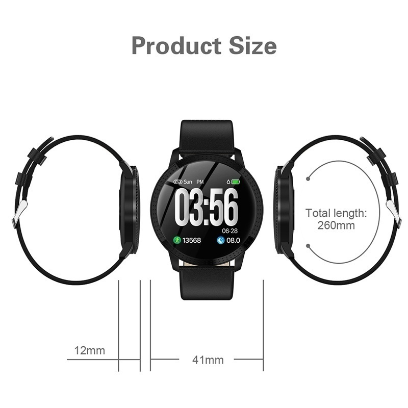 2019 New Fashion1.22 Inch Lady Smart Watch Waterproof IP67 Sport Watch Blood Pressure Monitoring Smart Bracelet Various Starp Multi Sport Modes Women Smart Band For IOS Iphone Andriod