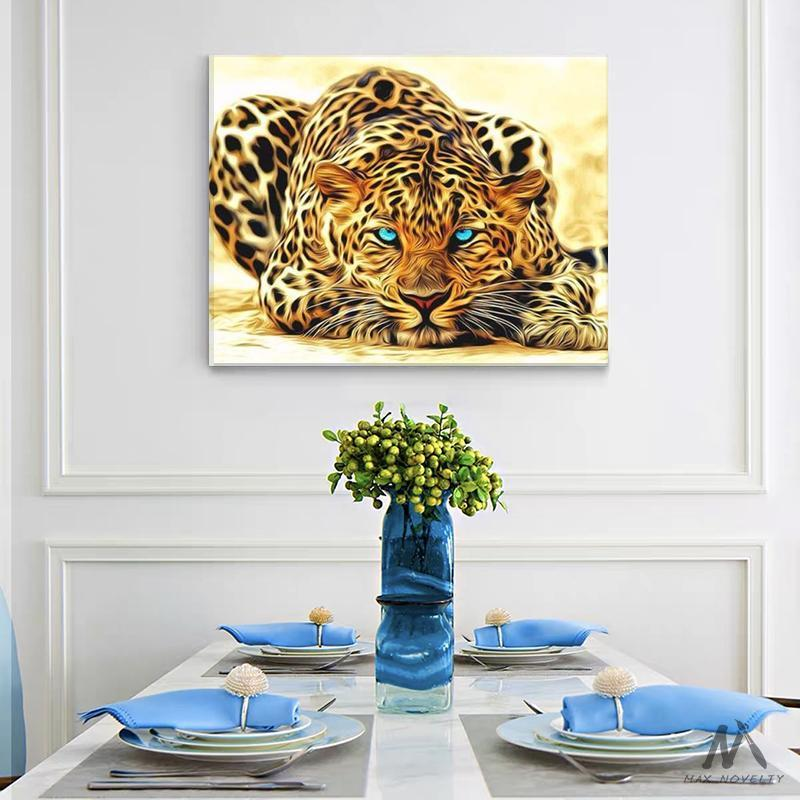 DIY Painting By Numbers -  Leopard (16