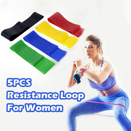 5PCS Loop Resistance Band for Yoga Pilates Crossfit Stretching